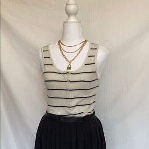 NWOT striped cozy bodysuit